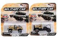 Металлическая модель машины «Армия», TH613, купить
