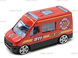 Набор металлических машинок «Пожарная команда», TH623, цена