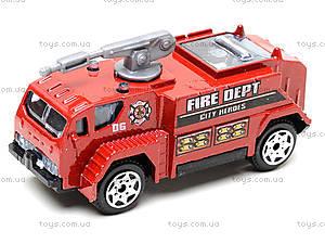 Набор металлических машинок «Пожарная команда», TH623, игрушки