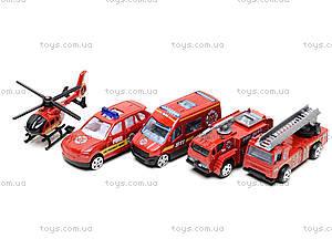 Набор металлических машинок «Пожарная команда», TH623, детские игрушки