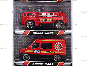 Набор игрушечных машин «Пожарные», TH622, купить