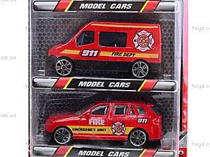 Набор игрушечных машин «Пожарные», TH622, фото