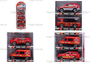 Набор игрушечных машин «Пожарные», TH622