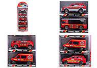 Набор игрушечных машин «Пожарные», TH622, детский