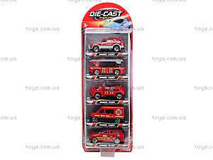 Набор игрушечных машин «Пожарные», TH622, отзывы