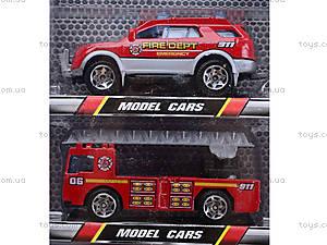 Набор игрушечных машин «Пожарные», TH622, цена