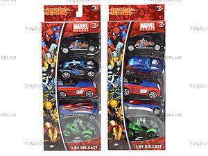 Набор игровых машинок «Супергерои», 5188-5, цена