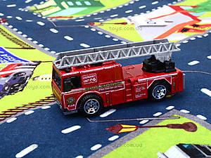 Набор машин «Пожарная служба» с картой города, SQ80663-4, купить