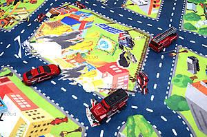 Набор машин «Пожарная служба» с картой города, SQ80663-4, фото