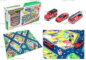 Набор машин «Пожарная служба» с картой города, SQ80663-4