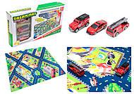 Набор машин «Пожарная служба» с картой города, SQ80663-4, магазин игрушек