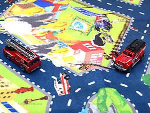 Набор машин «Пожарная служба» с картой города, SQ80663-4, цена