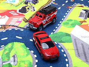 Набор машин «Пожарная служба» с картой города, SQ80663-4, игрушки