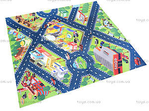Набор машин «Пожарная служба» с картой города, SQ80663-4, детские игрушки