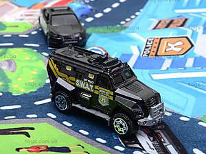 Набор машин «Полиция» с картой города, SQ80663-3, купить