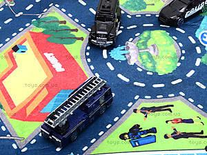 Набор машин «Полиция» с картой города, SQ80663-3, цена