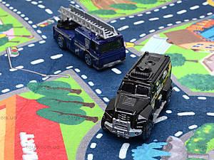 Набор машин «Полиция» с картой города, SQ80663-3, игрушки