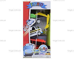 Набор инерционных машинок «Приключения Тайо», 30553, цена