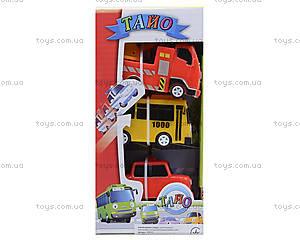 Набор инерционных машинок «Приключения Тайо», 30553, игрушки