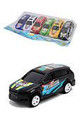 Машинки инерционные в пакете, 6 шт., 687-6Р, фото