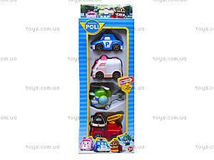 Набор игровых машинок «Робокар Поли», XZ-199, игрушки
