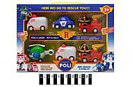 Набор машинок «Робокар Поли», 6 штук, P4, купить