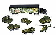 Набор машинок Same Toy Diecast «Грузовик с танками», SQ80956-8Ut, фото