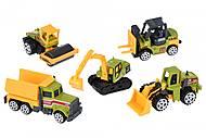 Набор машинок Same Toy Metal «Строительная техника» зеленый, SQ80865-2Ut