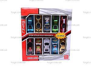Набор металлических машин, XL810, детские игрушки