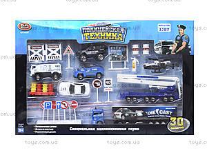 Набор металлических моделек «Полицейская техника», 6230, фото