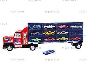 Набор металлических моделек в автовозе, 89738, отзывы