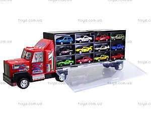Набор металлических моделек в автовозе, 89738, игрушки