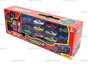 Набор металлических моделек в автовозе, 89738, детские игрушки