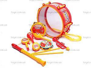 Набор музыкальных инструментов, игрушечный, 6688F