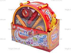 Набор музыкальных инструментов, игрушечный, 6688F, цена