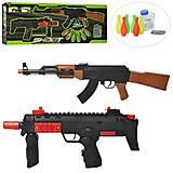 Набор оружия автомат 2 шт, водяные пули, кегли 6шт, 600-47, фото