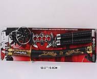 Набор оружия «Ниндзя» с нунчаками и сюрикенами, 8424, купити