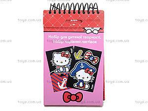 Набор детских открыток с бархатом Hello Kittу, HK14-219K, игрушки