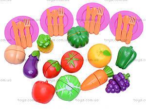 Набор овощей и фруктов с тарелками, 09015