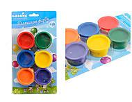 Набор пальчиковых красок, 6 цветов, 94181, купить