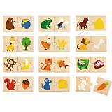 Набор пазлов Viga Toys «Что едят животные», 51607, купить