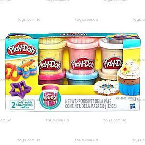 Набор Play-Doh из 6 баночек с конфетти, B3423