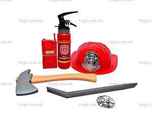 Набор пожарника с каской, 9918B