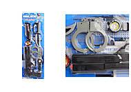 Игровой набор полицейского (пистолет, нож, наручники, компас, часы), 520D-09, игрушки