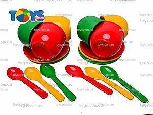 Набор посудки детской с подносом,