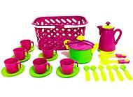 Набор посудки в розовой корзинке, KW-04-437, отзывы