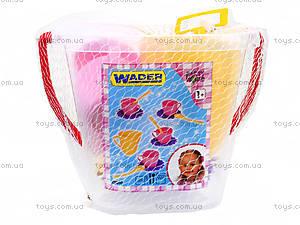 Детский набор посуды в ведерке, 22010, фото