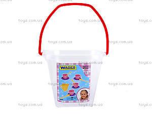 Детский набор посуды в ведерке, 22010, детские игрушки