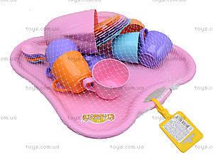 Набор посуды «Ромашка» с подносом и чайником, 39086, отзывы