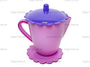 Набор посуды «Ромашка» с чайником, 39087, детские игрушки
